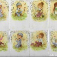 Postales: 8 RECORDATORIOS COMUNIÓN CONSTANZA ( LOTE 04). Lote 164822125