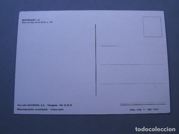 Postales: postal montblanc - 6 - mare de deu de la serra s.XIII (raymond, sin circ, años 70 aprox) - Foto 2 - 162558994