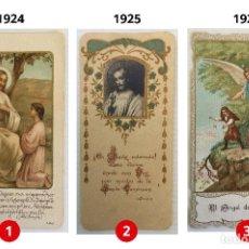 Postales: LOTE 3 ESTAMPAS RECUERDO DE LA PRIMERA COMUNIÓN – VALENCIA – AÑOS 1924, 1925 Y 1926 GERARD DESGODET. Lote 162581174