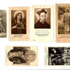 Postales: LOTA DE 6 ANTIGUAS ESTAMPITAS RELIGIOSAS.. Lote 162612442