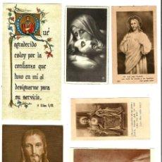 Postales: LOTE DE 6 ANTIGUAS ESTAMPITAS VARIADAS. . Lote 162612898
