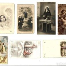 Postales: LOTE DE 7 ANTIGUAS ESTAMPITAS RELIGIOSAS VARIADAS.. Lote 162613058