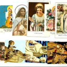 Postales: LOTE DE 10 ANTIGUAS ESTAMPITAS RELIGIOSAS VARIADAS.. Lote 162613206