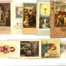 Postales: LOTE DE ANTIGUAS ESTAMPITAS PRIMERA COMUNION.. Lote 162613426