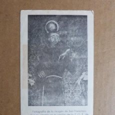 Postales: ESTAMPA RELIGIOSA SAN FRANCISCO CON ORACION RECORDATORIO RELIGIOSO FERROL DEL CAUDILLO. Lote 163080678