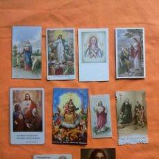 Postales: LOTE 10 ESTAMPAS RELIGIOSAS.. Lote 163383906