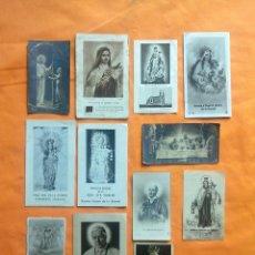 Postales: LOTE 12 ESTAMPAS RELIGIOSAS ANTIGUAS.. Lote 163385222