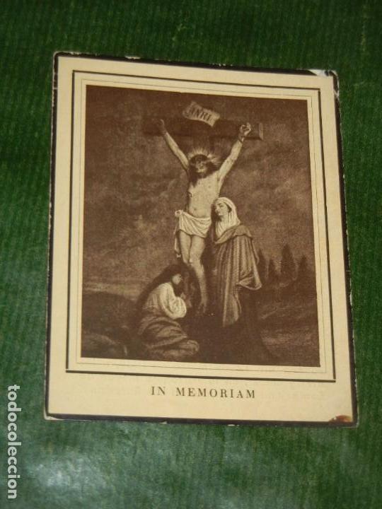 RECORDATORIO VICTIMA ACCIDENTE EXPRESO BARCELONA-MADRID 12 FEBRERO 1949 (Postales - Postales Temáticas - Religiosas y Recordatorios)