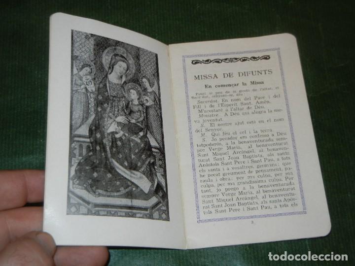 Postales: RECORDATORIO LIBRO MISA DE DIFUNTOS BARCELONA 1950 - Foto 2 - 163617822