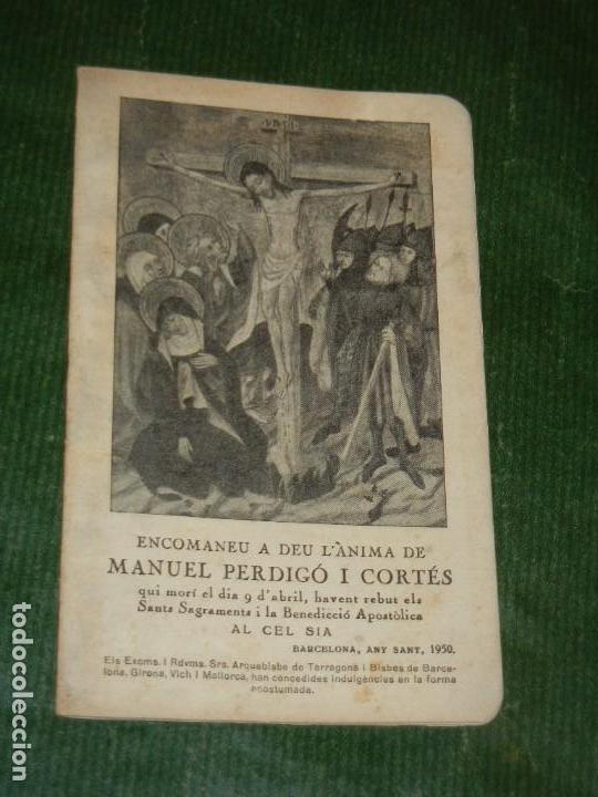 RECORDATORIO LIBRO MISA DE DIFUNTOS BARCELONA 1950 (Postales - Postales Temáticas - Religiosas y Recordatorios)