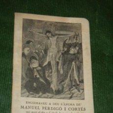 Postales: RECORDATORIO LIBRO MISA DE DIFUNTOS BARCELONA 1950. Lote 163617822