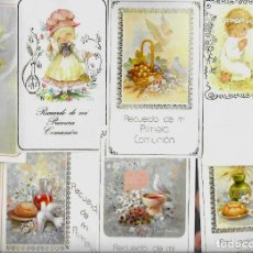 Postales: 10 RECORDATORIOS COMUNION - LOTE 108. Lote 163635694