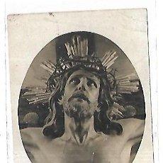 Postales: TARJETA POSTAL RELIGIOSA. EL SANTO CRISTO DE LA AGONIA DE LIMPIAS. SANTANDER. FOTO LEONCIO. Lote 163702250