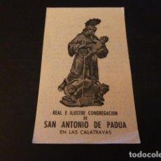 Postales: SAN ANTONIO DE PADUA MADRID LAS CALATRAVAS ANTIGUA ESTAMPA. Lote 163710686