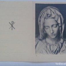 Postales: RECORDATORIO DE SEÑORA VIUDA FALLECIDA EN 1967 . MADRID. Lote 163798466
