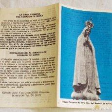 Postales: ESTAMPA RELIGIOSA DE NTRA. SRA. DEL ROSARIO DE FÁTIMA.. Lote 163892782