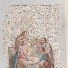 Postales: ESTAMPA PUNTILLA NACIMIENTO NIÑO JESÚS. 12 X 7 CM. Lote 163958178