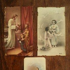 Postales: ESTAMPAS RELIGIOSAS. RECORDATORIO PRIMERA COMUNION. AÑOS 30 Y 40. Lote 164143673