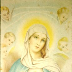 Postales: TARJETA POSTAL RELIGIOSA. INMACULADO CORAZON DE LA VIRGEN MARIA.. Lote 164334738