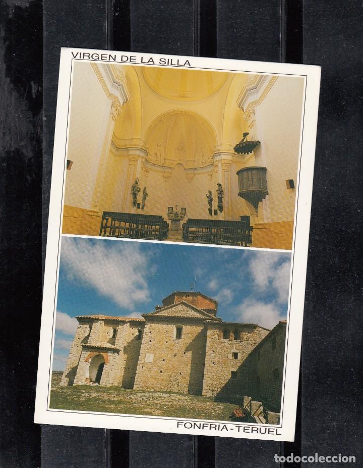 FONFRIA (TERUEL). ERMITA DE LA VIRGEN DE LA SILLA. INTERIOR E EXTERIOR (Postales - Postales Temáticas - Religiosas y Recordatorios)