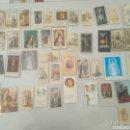 Postales: 51 RECORDATORIOS RELIGIOSOS ENTRE CROMOS Y ESTAMPAS VER TODAS LAS FOTOS. Lote 164449634