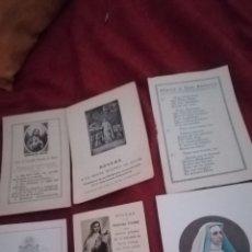 Postales: RECORDATORIOS RELIGIOSOS ANTIGUOS. Lote 164830008