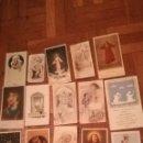 Postales: 15 ANTIGUOS RECORDATORIOS DE LA DÉCADA DE 1950. Lote 164972226