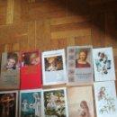 Postales: 10 ANTIGUOS RECORDATORIOS DE LA DÉCADA DE 1970. Lote 165059800