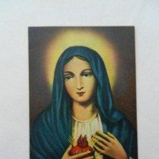 Postales: ESTAMPA SAGRADO CORAZÓN DE MARÍA. . Lote 165476146