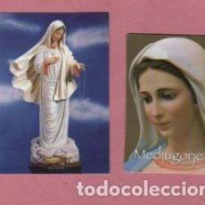 Postales: PAREJA DE ESTAMPAS RELIGIOSAS LA VIRGEN - MEDUGORJE. Lote 165997138