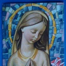 Postales: ESTAMPA RELIGIOSA ANTIGUA AURORA DE AMOR DIVINO C MARIANAS / 7 X 11 CM. Lote 166463669
