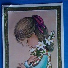 Postales: ESTAMPA RECUERDO RECORDATORIO COMUNION NO IMPRESA AÑOS 70. Lote 166466086