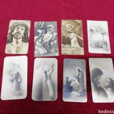 Postales: LOTE DE 8 ESTAMPAS RELIGIOSAS.. Lote 166910544