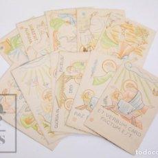 Postales: COLECCIÓN DE 11 POSTALES RELIGIOSAS ILUSTRADAS - ARTE SACRO. SERIE A, Nº 1. MONTSERRAT. Lote 167255268