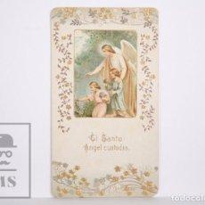Postales: ANTIGUA ESTAMPA RELIGIOSA - EL SANTO ÁNGEL CUSTODIO - PRINCIPIOS SIGLO XX. Lote 167355028