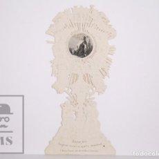 Postales: ANTIGUA ESTAMPA RELIGIOSA TROQUELADA - PADRE MÍO. HÁGASE VUESTRA SANTA VOLUNTAD - PRINCIPIOS S. XX. Lote 167917600