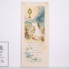 Postales: ANTIGUA ESTAMPA RELIGIOSA TROQUELADA - A VUESTROS PIES, OH, JESÚS... - PRINCIPIOS S. XX. Lote 167918116