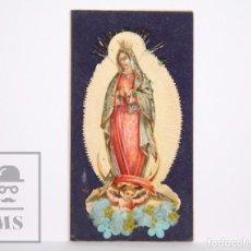 Postales: ANTIGUA ESTAMPA RELIGIOSA TROQUELADA - NUESTRA SEÑORA DE GUADALUPE - PRINCIPIOS S. XX. Lote 167918616