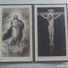 Postales: RECORDATORIO DE SEÑORA VIUDA FALLECIDA EN 1960. Lote 167995576