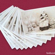 Postales: LAS ORDENES RELIGIOSAS - 12 POSTALES ORIGINALES DE ÉPOCA POR A. UTRILLO - COLECCION COMPLETA. Lote 168373048