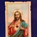Postales: ESTAMPA RELIGIOSA TROQUELADA DEL SAGRADO CORAZÓN DE JESÚS.. Lote 168373568