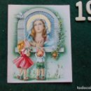 Postales: FELICITACIÓN RELIGIOSA ANTIGUA TROQUELADA. Lote 168694400