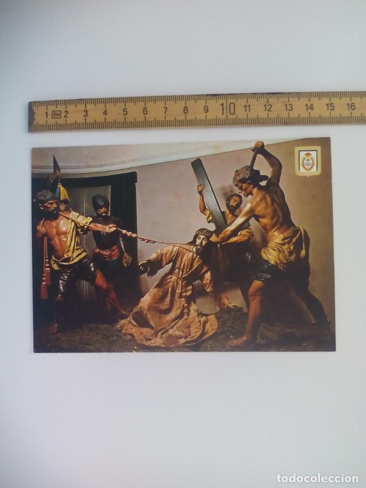 LA CAIDA Nº 56 MURCIA MUSEO DE SALZILLO ESCUDO DE ORO. SIN CIRCULAR POSTAL RELIGIOSA. POSTCARD (Postales - Postales Temáticas - Religiosas y Recordatorios)