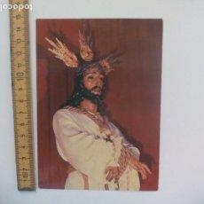 Postales: NUESTRO PADRE JESUS CAUTIVO SEMANA SANTA MALAGA. ESCUDO DE ORO SIN CIRCULAR POSTAL RELIGIOSA.. Lote 168757924