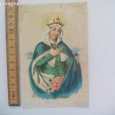 Postales: ANTIGUA POSTAL, ESCRITA. 1921, VIRGEN. POSTAL RELIGIOSA. POSTCARD. Lote 168764572