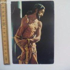 Postales: VELEZ MALAGA SEMANA SANTA JESUS EN LA COLUMNA FOTO ALJAMA ESTUDIANTES POSTAL RELIGIOSA. POSTCARD. Lote 168766064