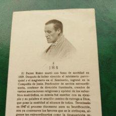 Postales: ESTAMPA RELIGIOSA CON RELIQUIA DEL PADRE RUBIO. Lote 168815560