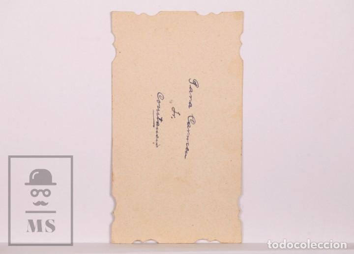 Postales: Antigua Estampa Religiosa Troquelada - Nuestra Señora de la Consolación y Correa - Principios S. XX - Foto 2 - 168823200