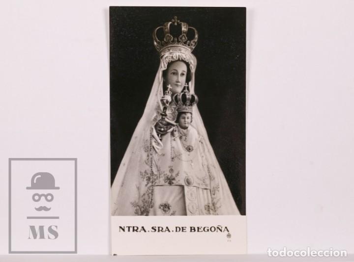ANTIGUA ESTAMPA RELIGIOSA FOTOGRÁFICA - NUESTRA SEÑORA DE BEGOÑA - MEDIADOS S. XX (Postales - Postales Temáticas - Religiosas y Recordatorios)