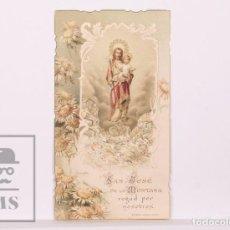 Postales: ANTIGUA ESTAMPA RELIGIOSA TROQUELADA - SAN JOSÉ DE LA MONTAÑA - PRINCIPIOS S. XX. Lote 168824052